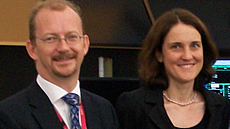Richard Deakin and Theresa Villiers
