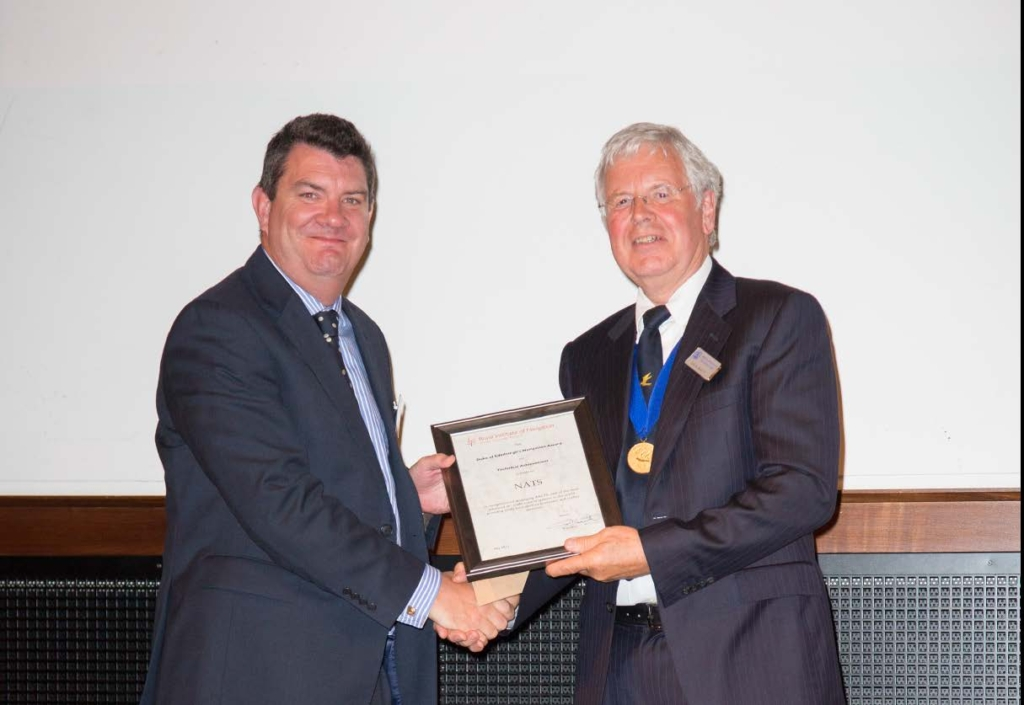 Martin Rolfe, NATS Managing Director of Operations and Colin Beatty, President of the Royal Institute of Navigation.