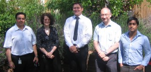 NATS Maths Mentor Project Manager, Richard Scott (second from right) pictured here with NATS mentors and King Richard school staff.