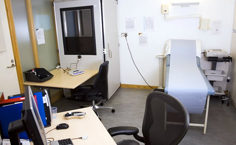 An assessment room at our Swanwick Centre