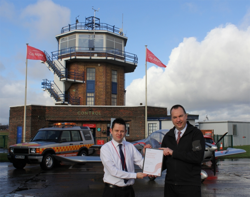 Award for Manchester airfield and flying school