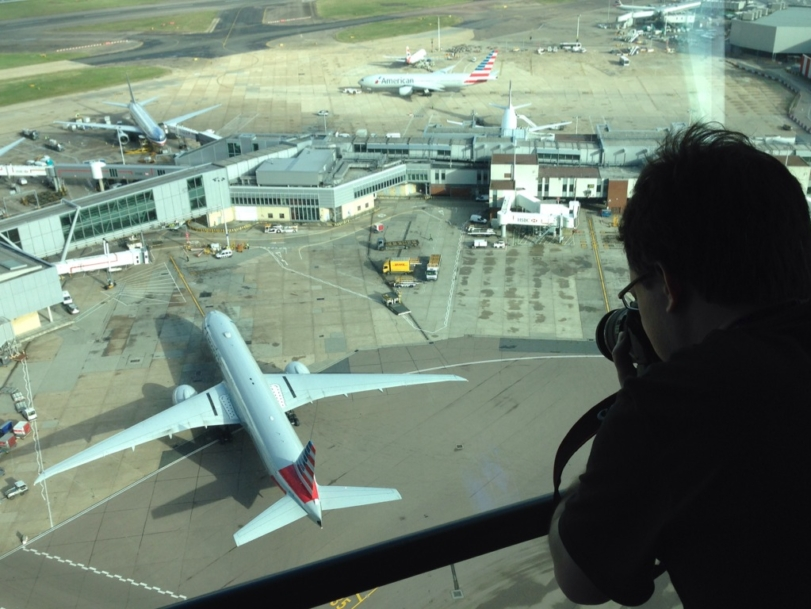Spotter gets special visit to Heathrow tower
