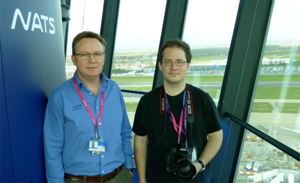 Tim with David Marshall, NATS Head of ATC Training at Heathrow.
