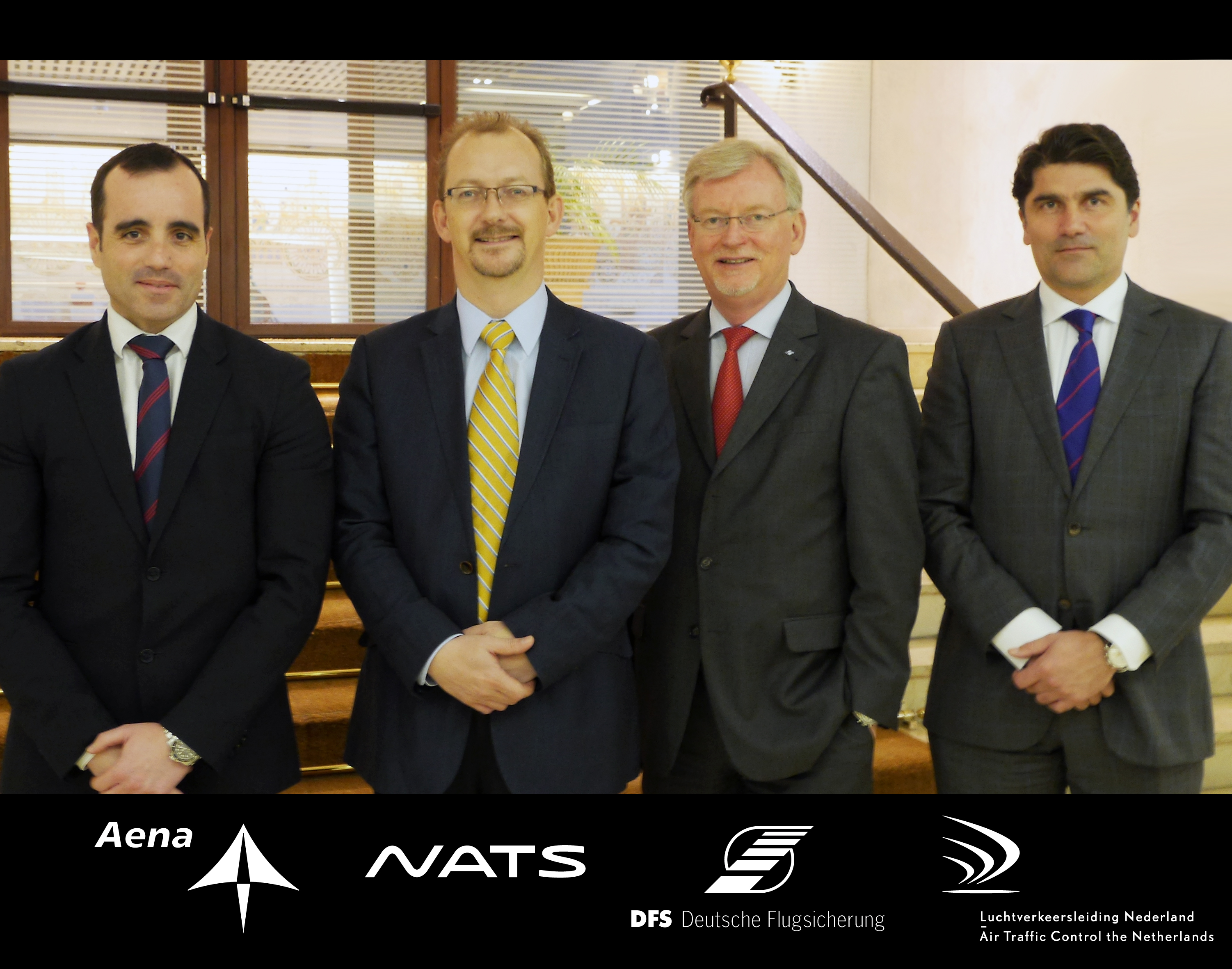 The CEO's of the four iTEC ANSPs – AENA, DFS, LVNL and NATS - at the World ATM Congress.