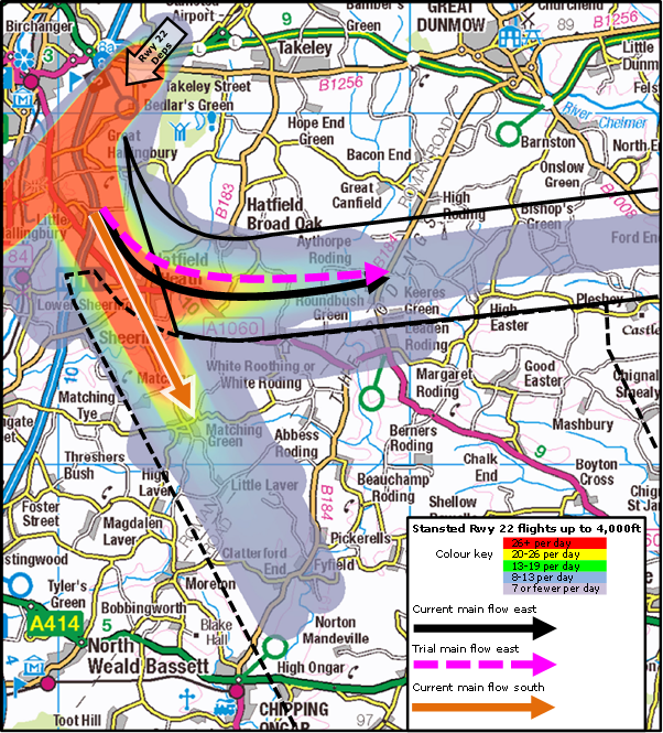 Map:  How the RNP Trial would affect this proposal