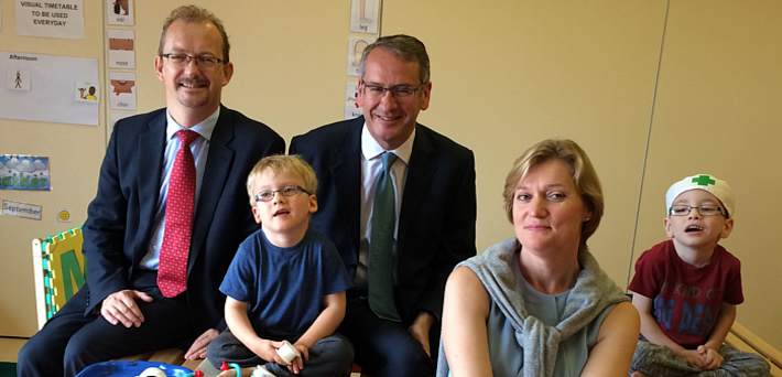NATS CEO and Fareham MP present donation to local charity