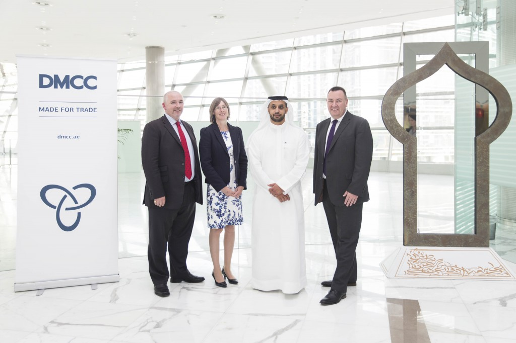 Ben Kiff, NATS Head of Proposition Development, Catherine Mason, NATS Managing Director, Services, Ahmed Bin Sulayem, Executive Chairman, DMCC and John Swift, NATS Middle East Director