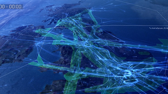 Record number of flights for busiest week in UK airspace