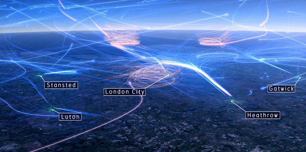 Heathrow's holding stacks provide a continuous stream of arriving air traffic