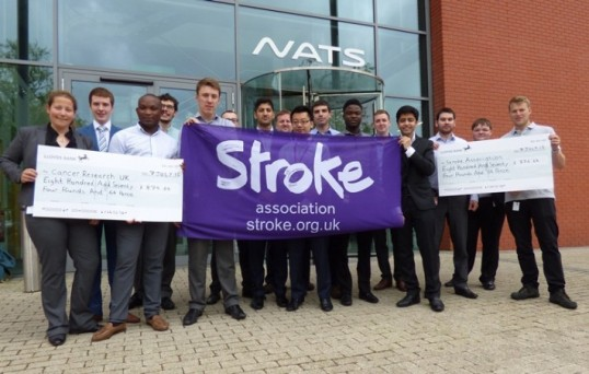Engineers raise money for stroke and cancer charities