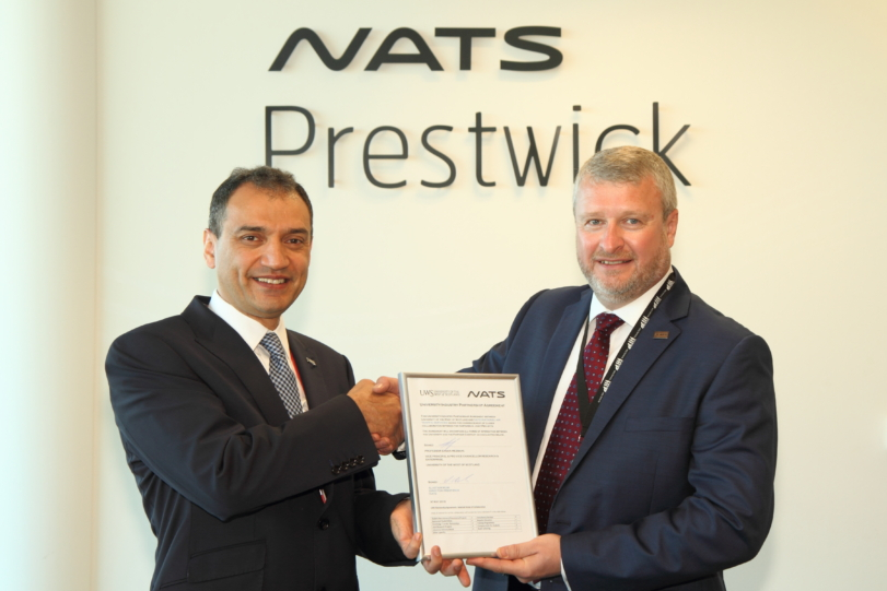 NATS Prestwick forges new partnership with the University of the West of Scotland