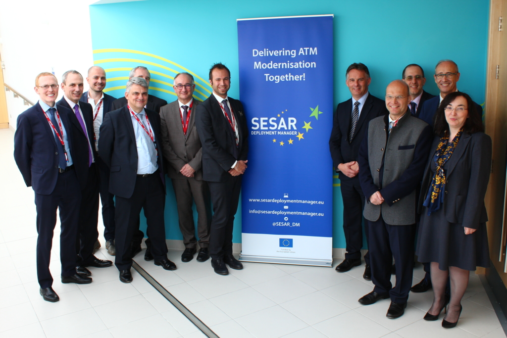 Members of European Commission, INEA, SESAR Deployment Manager and NATS at Swanwick