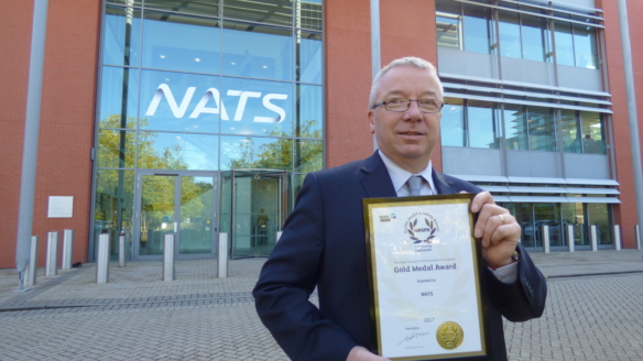 NATS strikes gold at health and safety awards