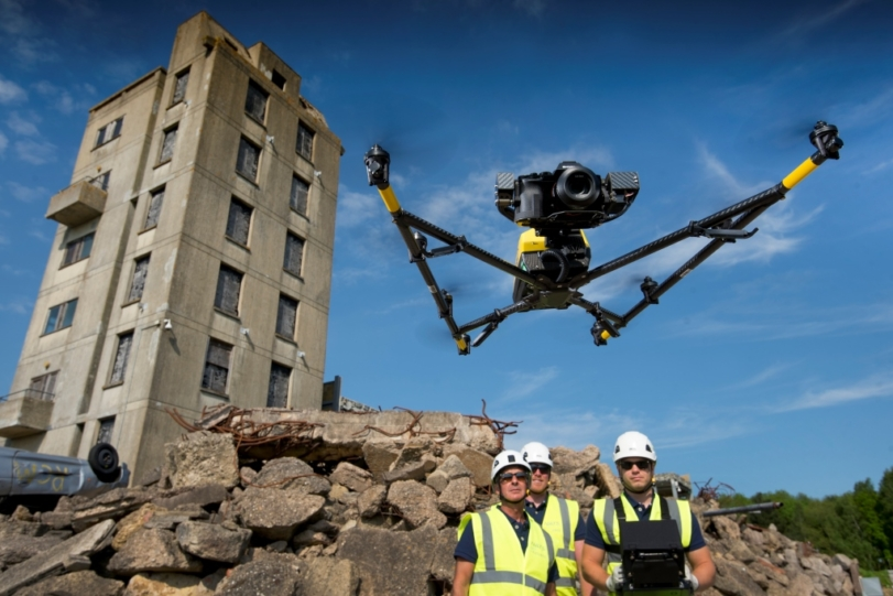 Drone demos steal the show as UK air traffic control provider partners with leading drone training and software company in new venture