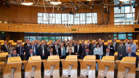 NATS Prestwick strengthens ties with local leaders at Holyrood event