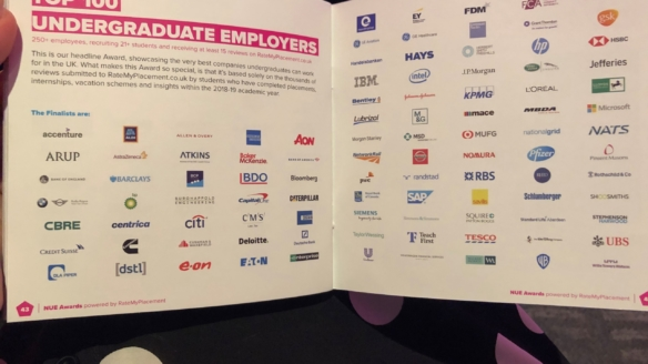NATS named as a top undergraduate employer