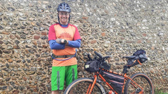 Cycling from Swanwick to Prestwick for charity